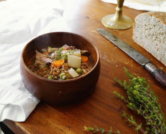 Chicken and Spent Grain Stew