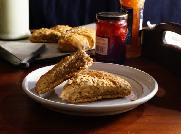 Apple Beer Maple Spent Grain Scones